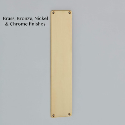 Rounded Corner Finger Plate in Satin Brass