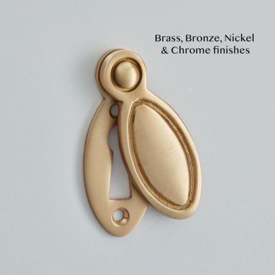 Cliveden Escutcheon in Satin Brass