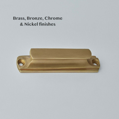 Concave Cabinet Handle Light Antique Brass