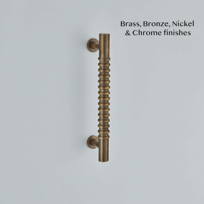 Rutland Pull Handle in Antique Brass