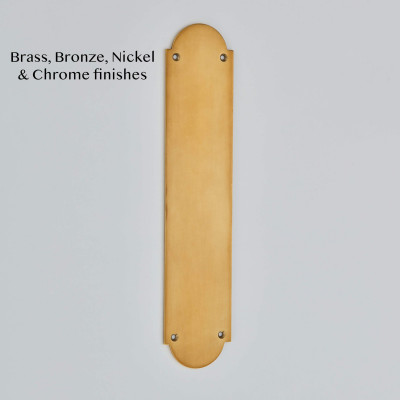 Shaped Finger Plate in Smoked Brass