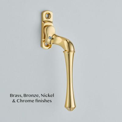 Narrow Fairmont Espagnolette Fastener Polished Brass