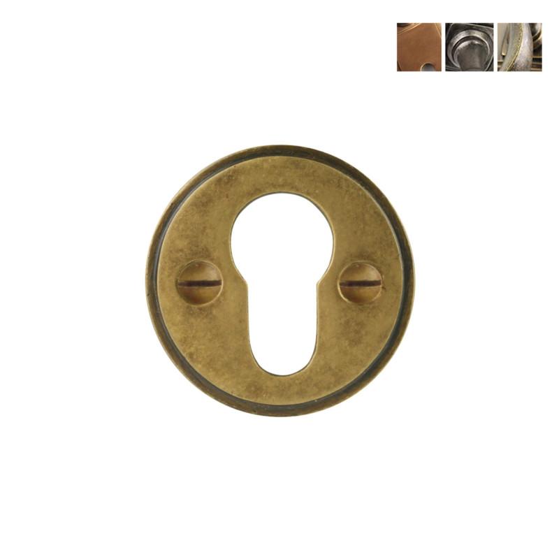 Polished Brass Escutcheon Plates for Euro Cylinder Euro Profile Key Hole Cover