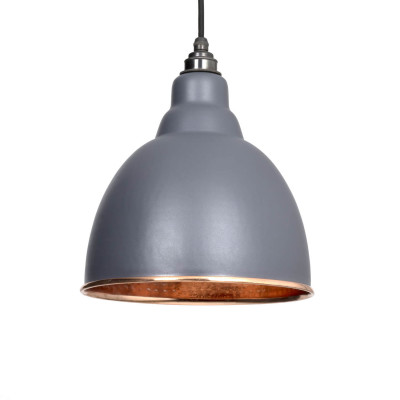 Grey Hammered Pendant Light
