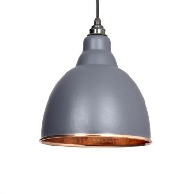 Grey Hammered Pendant Light