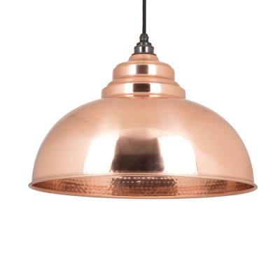 Copper hammered light