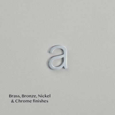 Arial Font Letters Chrome Plate