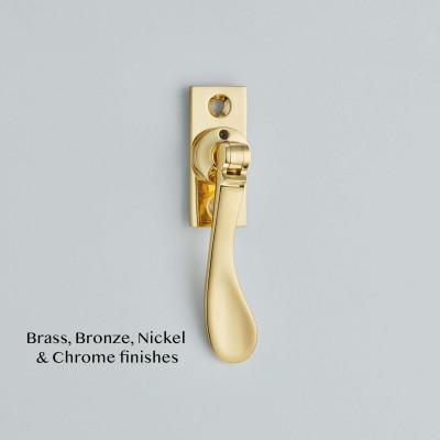 Spoon End Espagnolette Fastener Polished Brass UNL