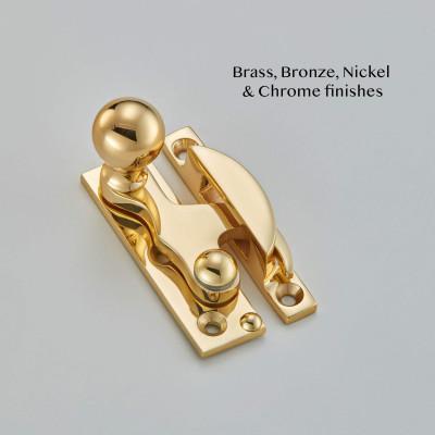 Small Bun Claw Sash Fastener Polished Brass UNL