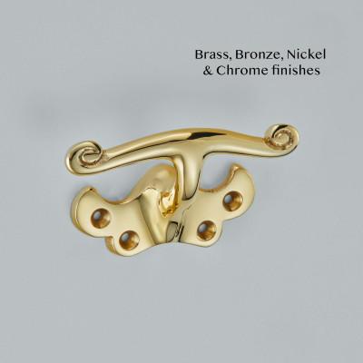 Single Stem Sash Handle Polished Brass UNL