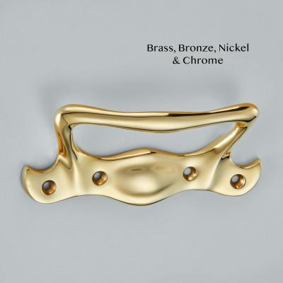 Art Nouveau Sash Handle Polished Brass UNL