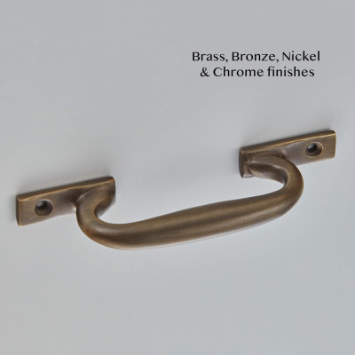 Simple Sash Handle Aged Brass