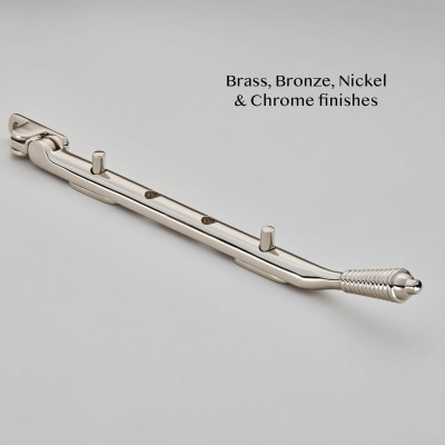 Reeded Casement Stay Polished Nickel