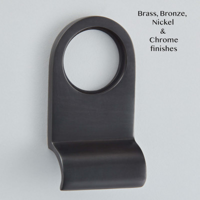 Cylinder Pull Matt Black Bronze