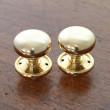 Small Brass Mushroom Door Knob