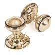 Period brass door knobs