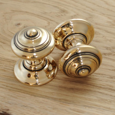 Aged Brass Elmore Door Knobs