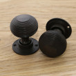 Aged Bronze Beehive Door Knobs