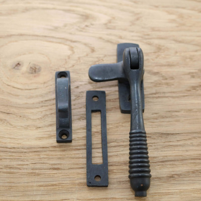 Aged Bronze Reeded Window Fastener