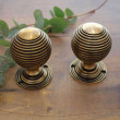 Large Brass Beehive Door Knobs
