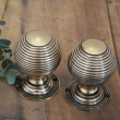 Brass Large Beehive Door Knobs