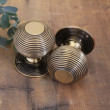 Polished Brass Beehive Door Knobs