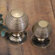 Large and Small Brass Beehive Door Knobs