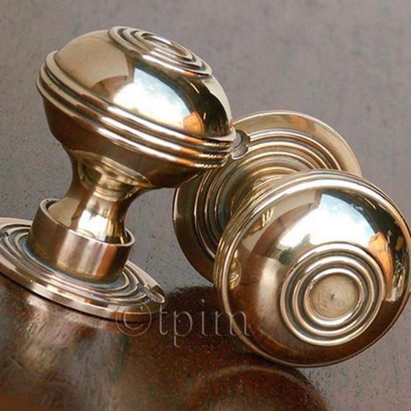 Brass Bloxwich Door Knobs | Georgian Period Door Knobs