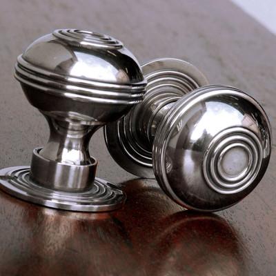 Bloxwich Door Knobs   Polished Nickel
