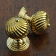 Burcot Swirl Brass Door Knobs