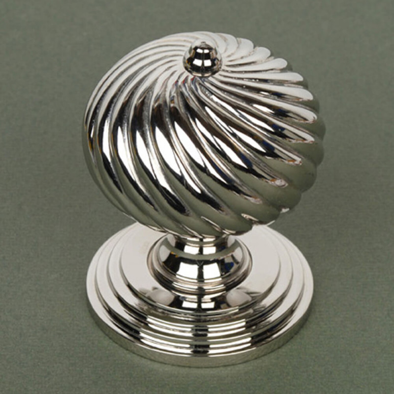 Burcot Swirl Nickel Door Knobs | Edwardian Door Knobs