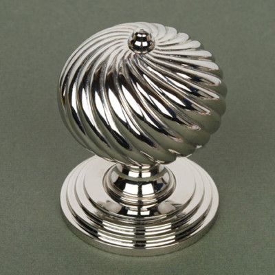 Burcot Swirl Nickel Door Knobs