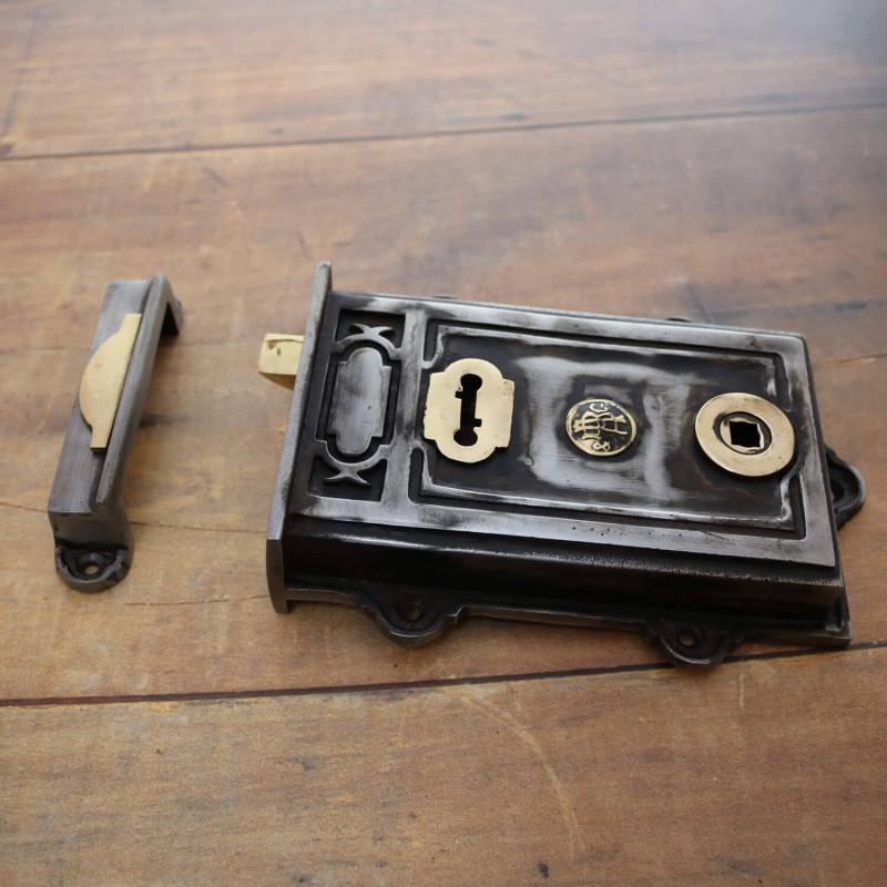 & Davenport Cast Iron Rim Lock | Period Door Locks
