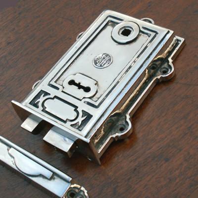 Davenport Nickel Rim Lock