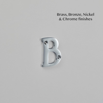 Traditional Letter Chrome Plate
