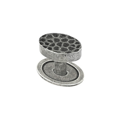 Hammered pewter cabinet knob