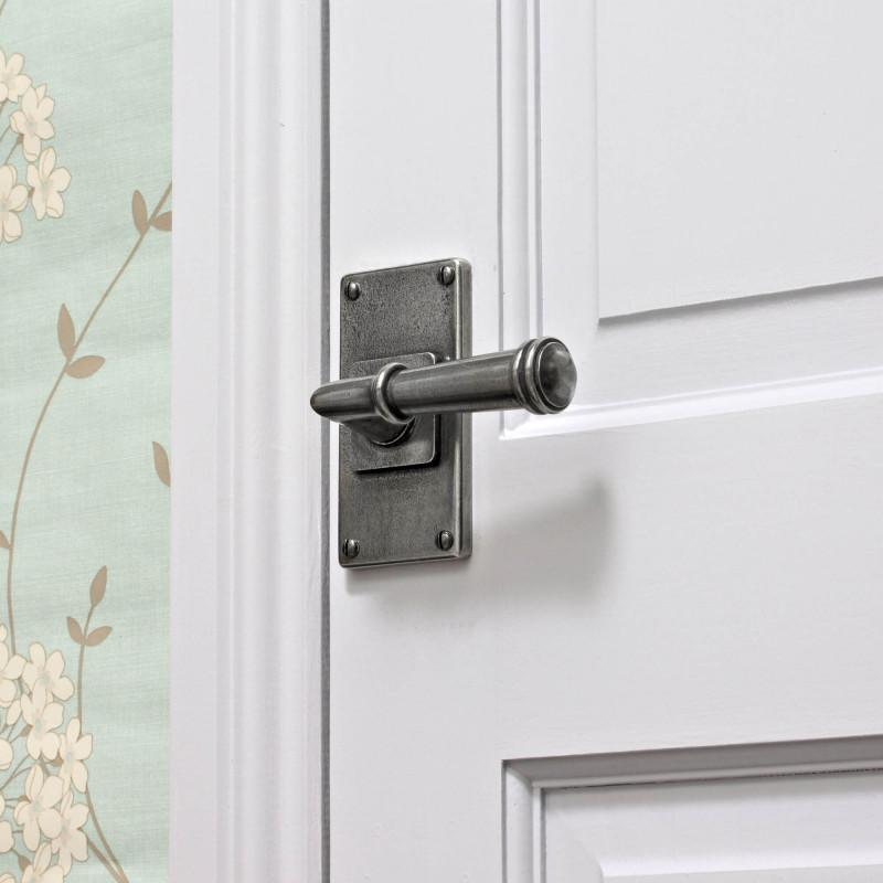 Pewter Durham Jesmond Lever Handle Finesse Hardware Door