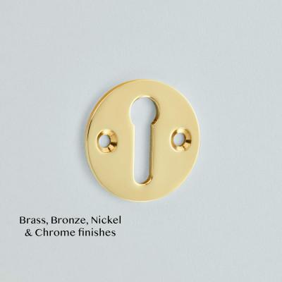 Open Escutcheon Polished Brass Unlacquered