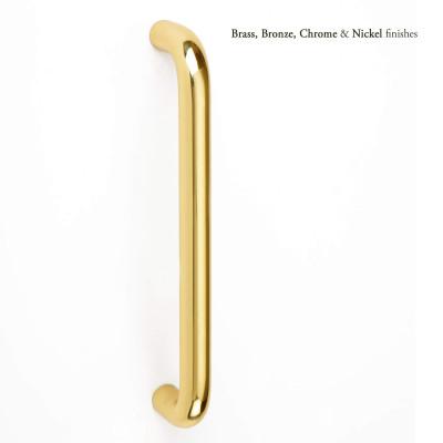 Round bar pull handle