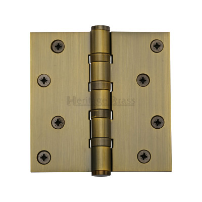 4 x 4 Antique Brass Hinge
