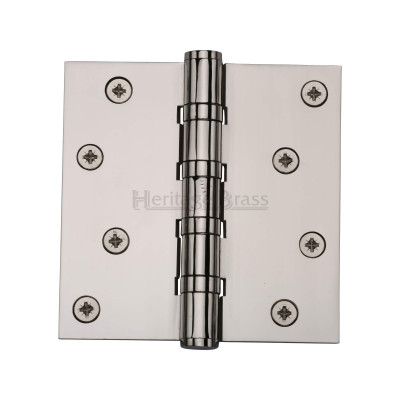 4 x 4 Polished Nickel Hinge