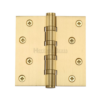 4 x 4 Satin Brass Ball Bearing Hinge