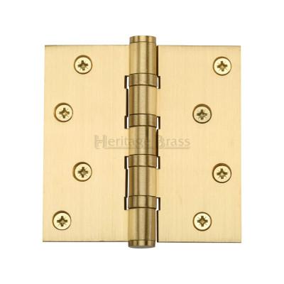 4 x 4 Satin Brass Ball Bearing Hinge