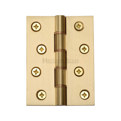 "4"" x 3"" Heavy Satin Brass DPW Hinge"