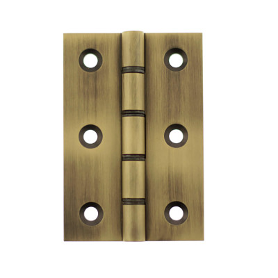 Solid Brass Washered Hinges - Matt Antique Brass