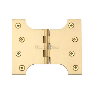 Satin Brass Parliament Hinges 4 x 3 x 5""