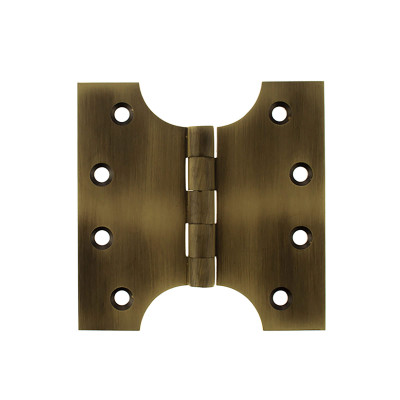 Solid Brass Parliament Hinges - Matt Antique Brass
