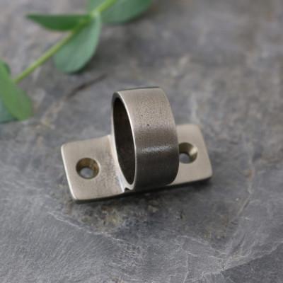 Distressed Antique Nickel Sash Ring