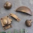 Vintage Brass Wrenbury Cabinet Collection