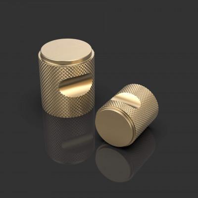 Carlos Satin Brass Cabinet Knob
